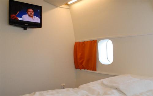 Chambre d'hotel dans un avion