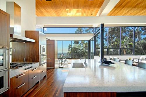 Cuisine Moderne Quartz : Cuisine Marbre Et Bois  Maison d'architecte contemporaine à Los