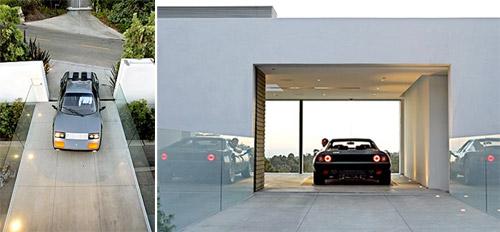 garage d'une maison contemporaine