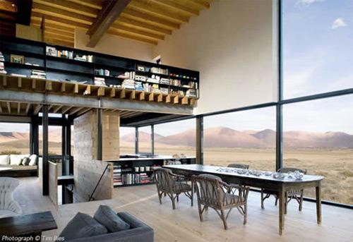 maison avec vue sur le desert