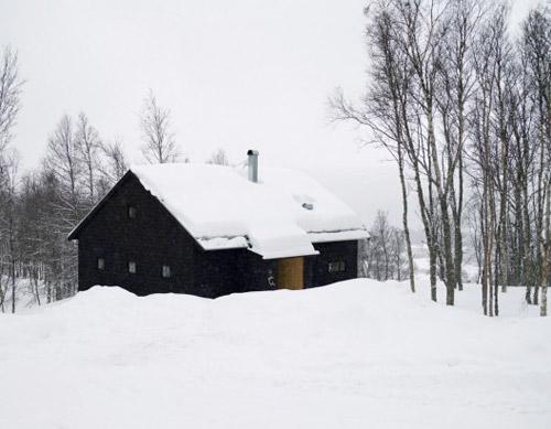 maison contemporaine neige
