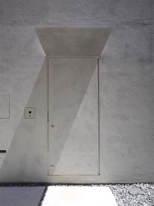porte d'entrée de la maison atypique