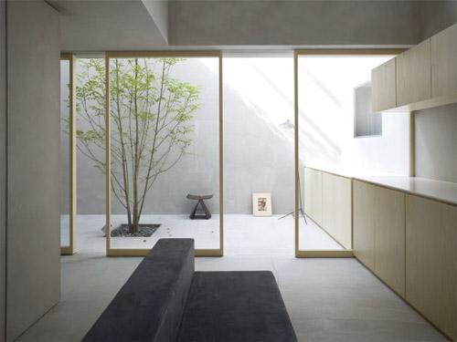baie vitrée et patio