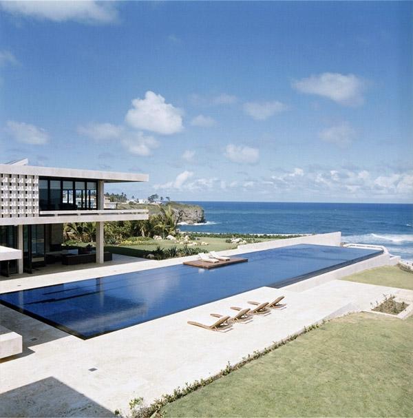 9 maisons d 39 architectes avec piscine for Alarme piscine home beach