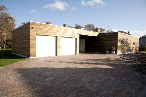 bardage en bois d'une maison d'architecte