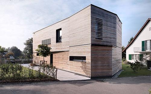 photo de la maison en bois