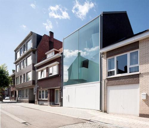 maison d'architecte façade en vitrée