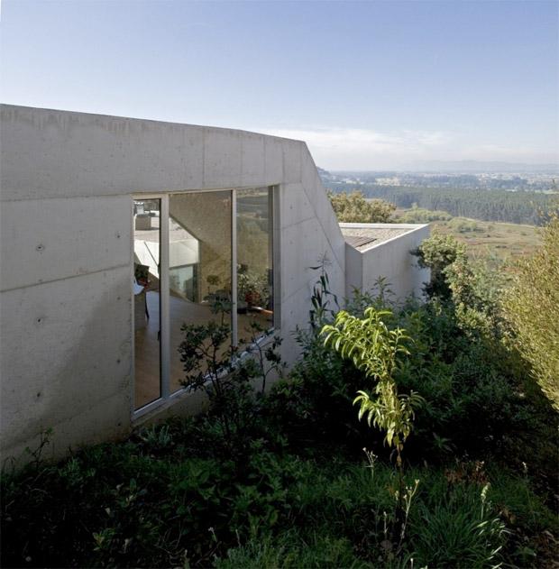 terrasse d'une maison d'architecte