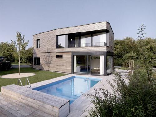 maison-bois-piscine