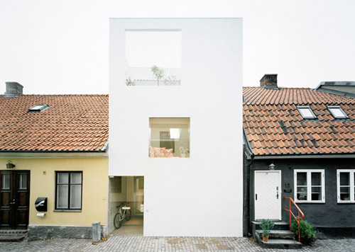 façade maison blanche