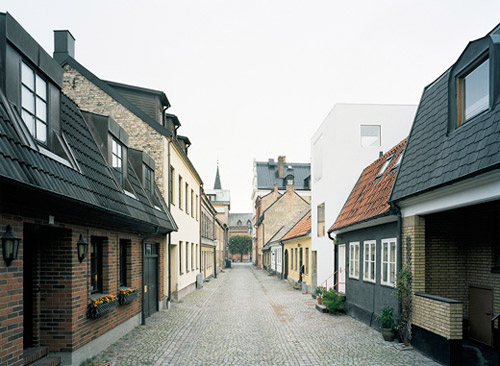 maison de ville dans une rue