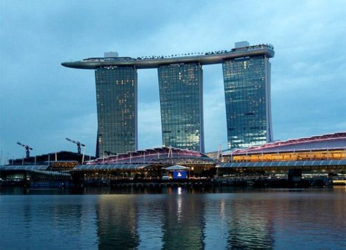 hotel avec piscine à débordement à Singapore
