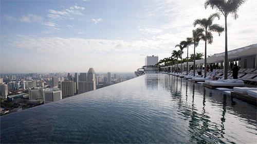 hotel avec piscine a débordement