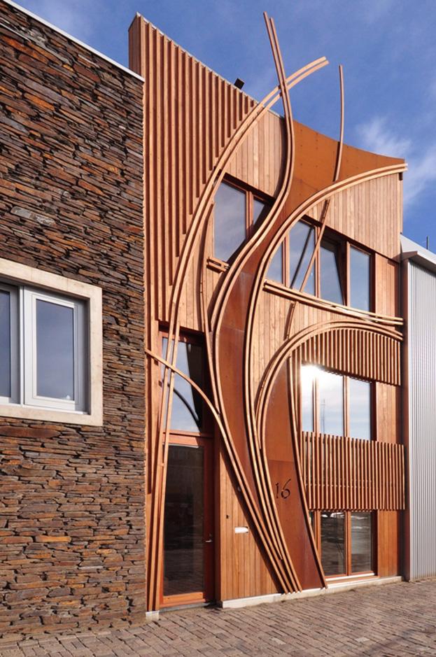 Maison la fa ade atypique - Facade architecture maison ...