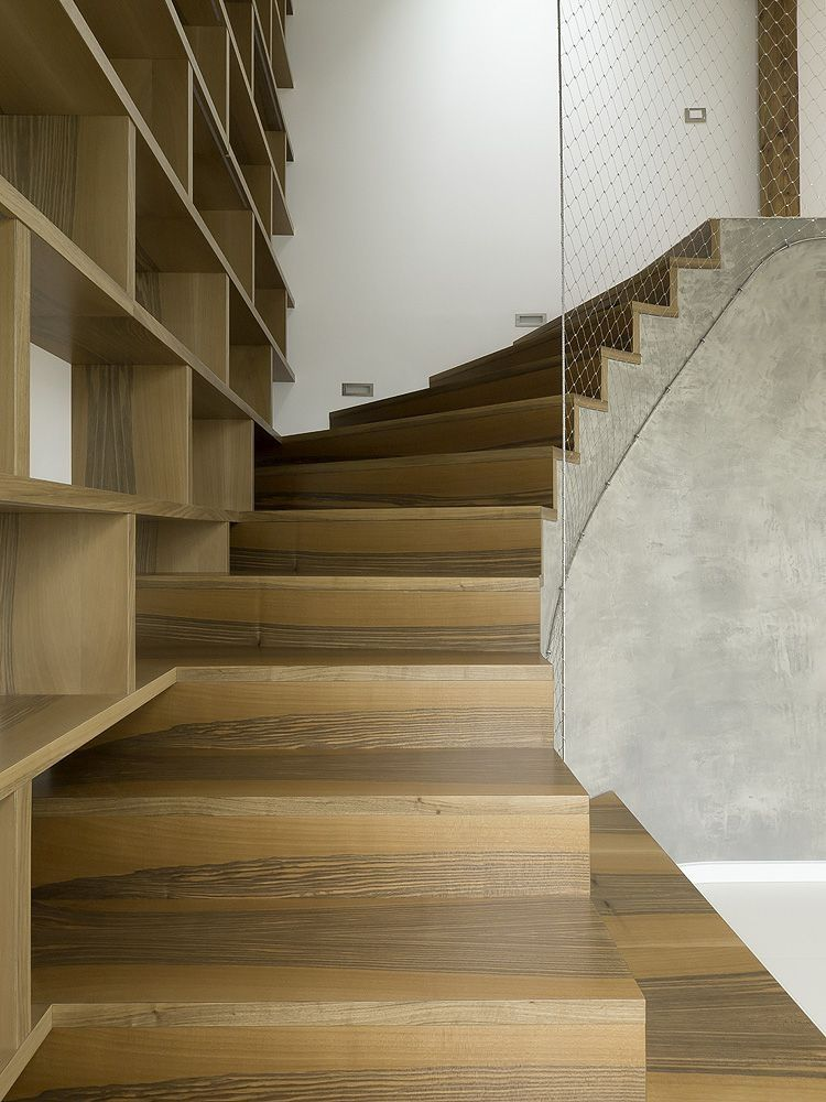 escalier en bois contemporain