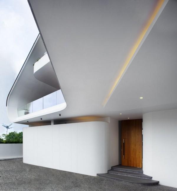 Porte d 39 entr e de maison d 39 architecte for Porte d entree maison contemporaine