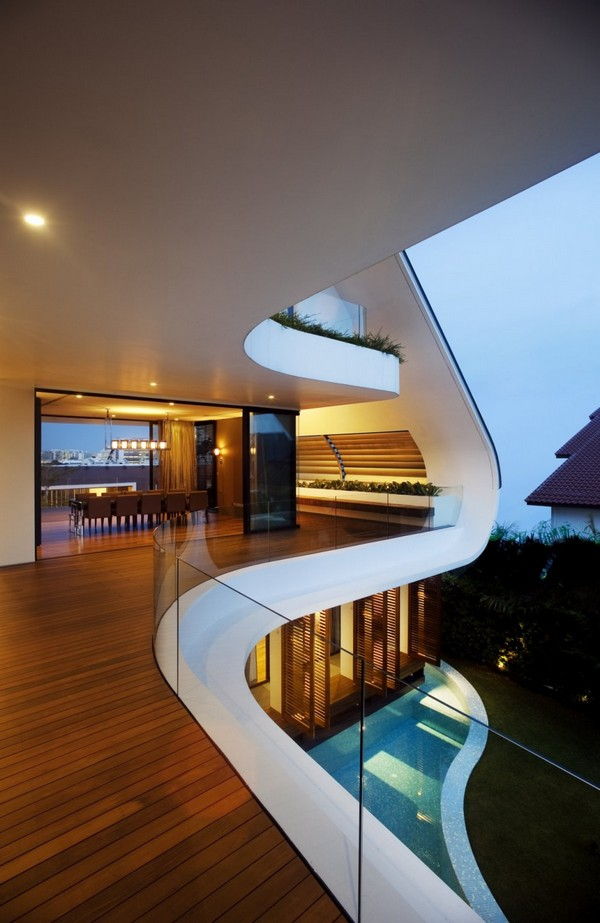 Maison darchitecte atypique  Singapour