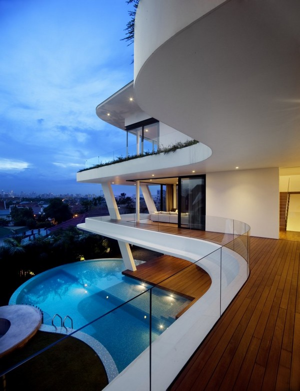 Maison d 39 architecte atypique singapour for Beautiful houses interior tumblr